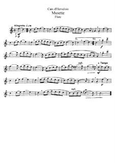 Musette: Bearbeitung für Flöte und Klavier – Solo Stimme by Louis de Caix d'Hervelois