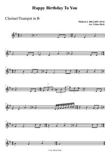 Zum Geburtstag viel Glück: Für Klarinette PlayAlong by Mildred Hill