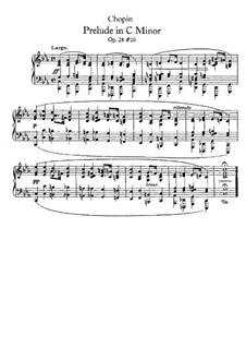 Nr.20 in c-Moll: Für Klavier by Frédéric Chopin