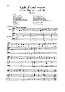 Ombra mai fu: For low voice by Georg Friedrich Händel