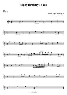 Zum Geburtstag viel Glück: Für Flöte PlayAlong by Mildred Hill