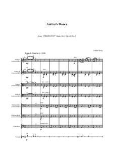 Suite Nr.1. Anitras Tanz, Op.46 No.3: For string orchestra - score and parts by Edvard Grieg