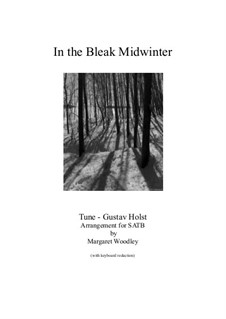 In the Bleak Midwinter: For mixed choir and organ by Gustav Holst