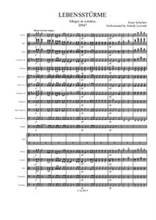 Lebensstürme für Klavier, vierhändig, D.947 Op.144: Version for symphonic orchestra by Franz Schubert