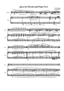 Piece for Piccolo and Piano No.1, MVWV 1299: Piece for Piccolo and Piano No.1 by Maurice Verheul