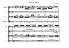 Ave Maria, D.839 Op.52 No.6: SATB saxophones by Franz Schubert