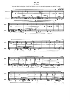 Duos for 2 Bass clarinet, Volume 1: Duo No.6, MVWV 943 by Maurice Verheul