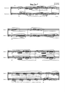 Duos for 2 Bass clarinet, Volume 1: Duo No.7, MVWV 944 by Maurice Verheul