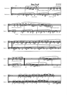 Duos for 2 Bass clarinet, Volume 1: Duo No.8, MVWV 945 by Maurice Verheul