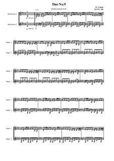 Duos for 2 Bass clarinet, Volume 1: Duo No.9, MVWV 946 by Maurice Verheul