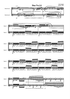Duos for 2 Bass clarinet, Volume 1: Duo No.14, MVWV 951 by Maurice Verheul