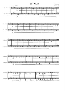 Duos for 2 Bass clarinet, Volume 1: Duo No.18, MVWV 955 by Maurice Verheul