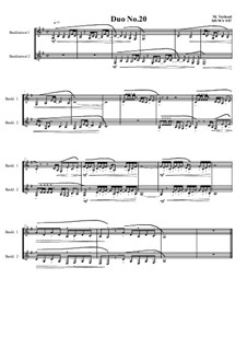 Duos for 2 Bass clarinet, Volume 1: Duo No.20, MVWV 957 by Maurice Verheul