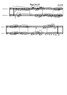 Duos for 2 Bass clarinet, Volume 1: Duo No.23, MVWV 960 by Maurice Verheul