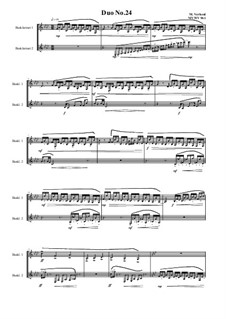 Duos for 2 Bass clarinet, Volume 1: Duo No.24, MVWV 961 by Maurice Verheul