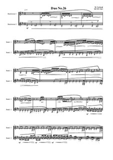 Duos for 2 Bass clarinet, Volume 1: Duo No.26, MVWV 963 by Maurice Verheul