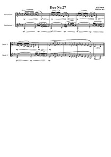 Duos for 2 Bass clarinet, Volume 1: Duo No.27, MVWV 964 by Maurice Verheul