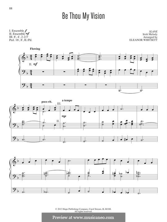 Be Thou My Vision (Printable scores): Für Orgel by folklore