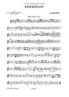 Passacaglia für Holzbläserquintett: Kornettstimme by Adrien Barthe