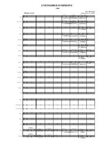Unfinished Symphony (1860): Allegro assai (1st movement), Scherzo (2nd movement) by Modest Mussorgski