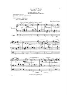 An April Song: An April Song by John Hyatt Brewer