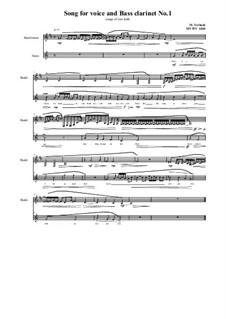 Songs for Bass clarinet and voice: Nr.1, MVWV 1020 by Maurice Verheul