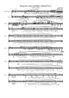 Songs for Bass clarinet and voice: Nr.2, MVWV 1021 by Maurice Verheul