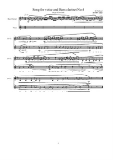 Songs for Bass clarinet and voice: Nr.4, MVWV 1023 by Maurice Verheul