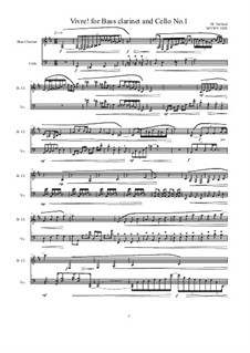 Works for Bass clarinet and Cello: Nr.1, MVWV 1028 by Maurice Verheul