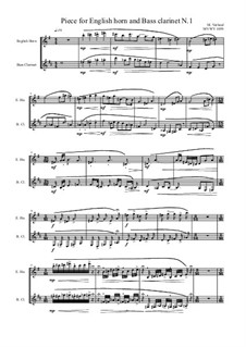 Works for Bass clarinet and English horn: Nr.1, MVWV 1059 by Maurice Verheul