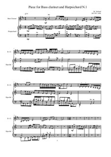 Works for Bass clarinet and Harpsichord: Nr.1, MVWV 1056 by Maurice Verheul