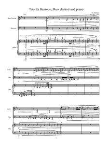 Trio for Bassoon, Bass clarinet and Piano, MVWV 1197a: Trio for Bassoon, Bass clarinet and Piano by Maurice Verheul