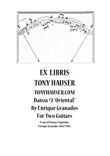 Zwölf Spanische Tänze: Dance No.2, for two guitars by Enrique Granados