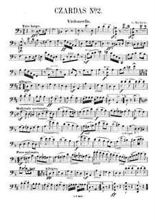 Csardas Nr.2, für Klaviertrio: Cellostimme by Gustave Michiels