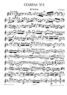 Csardas Nr.2, für Klaviertrio: Violinstimme by Gustave Michiels