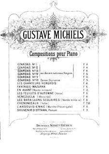 Csardas Nr.2, für Klaviertrio: Klavierstimme by Gustave Michiels
