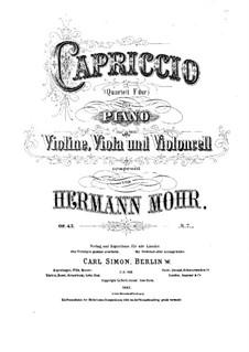Capriccio in F-Dur für Klavierquartett, Op.43: Vollpartitur by Hermann Mohr