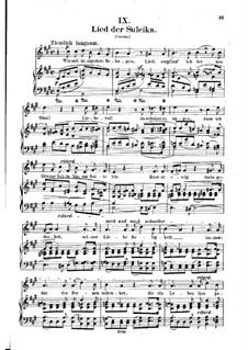 Nr.9 Lied der Suleika: Klavierauszug mit Singstimmen (auf Deutsch) by Robert Schumann