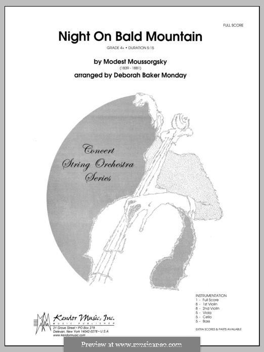 Eine Nacht auf dem kahlen Berge: Vollpartitur by Modest Mussorgski