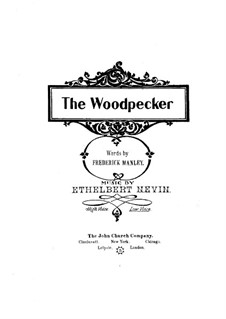The Woodpecker: The Woodpecker by Ethelbert Woodbridge Nevin