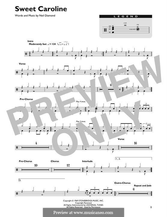 Sweet Caroline: Drum set by Neil Diamond