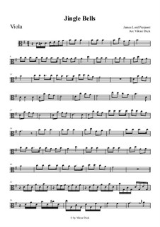 Jingle Bells: For viola playAlong by James Lord Pierpont