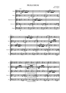 Präludium in c-Moll, BWV 999: Für Bläserensemble by Johann Sebastian Bach