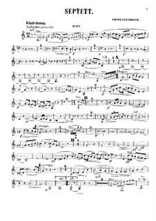 Septett für Bläser, Streicher und Klavier, Op.7: Hornstimme by Fritz Steinbach