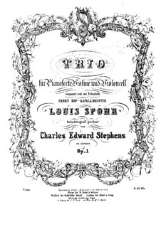 Klaviertrio in F-Dur, Op.1: Cellostimme by Charles Edward Stephens