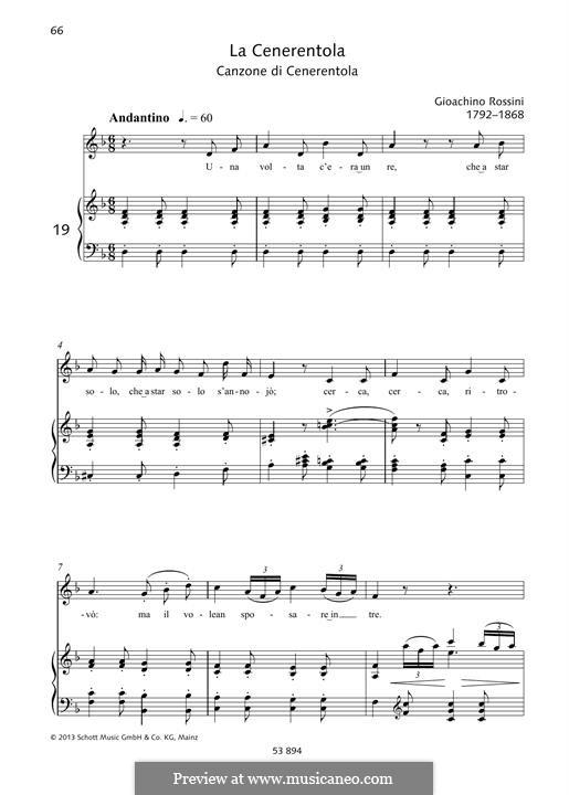 La Cenerentola: Una volta c'era unre by Gioacchino Rossini