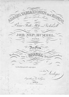 Adagio, Variationen und Rondo für Flöte (oder Violine), Cello und Klavier, Op.78: Adagio, Variationen und Rondo für Flöte (oder Violine), Cello und Klavier by Johann Nepomuk Hummel