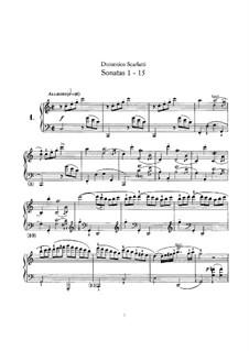 Sonaten für Cembalo (oder Klavier): Vollsammlung by Domenico Scarlatti