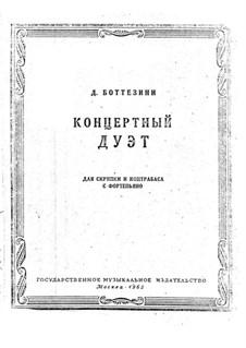 Konzertduo: Für Violine, Kontrabass und Klavier by Giovanni Bottesini