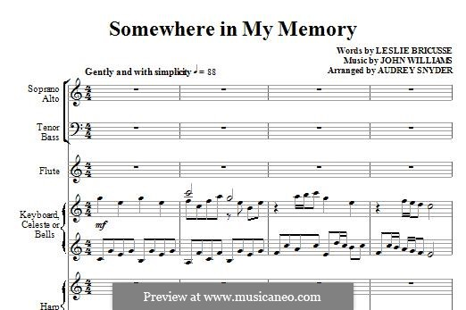 Somewhere in My Memory: Full score (arr. Audrey Snyder) by John Williams